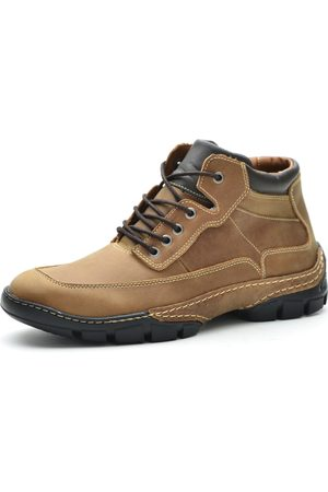 Over Boots Bota Cano Curto Destroyer Couro Caramelo