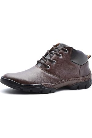Over Boots Bota Cano Curto Couro Soft