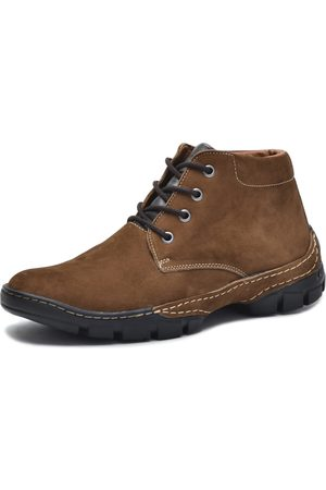 Over Boots Bota cano curto Couro Nobuck Taupe