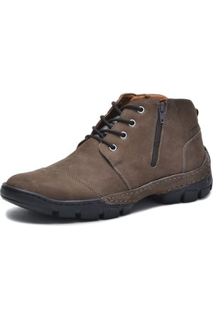 Over Boots Bota cano curto Couro Chocolate
