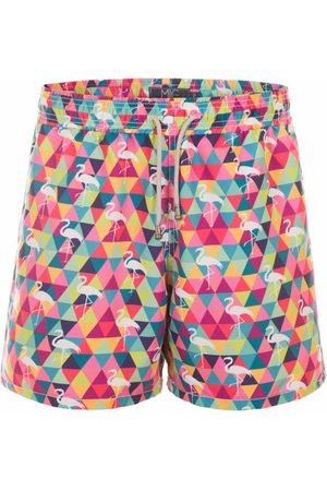 Mic Fun Shorts Masculino Flamingando Multicolorido