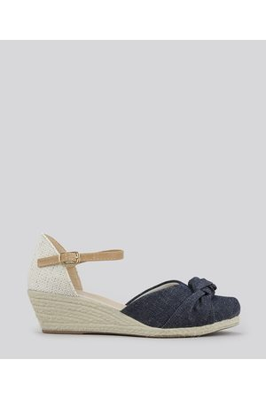 PALOMINO Espadrille Jeans Infantil Anabela Escuro