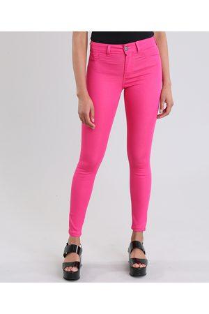 Clockhouse Calça Feminina Skinny Energy Jeans em Algodão + Sustentável Pink