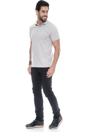 Lemier Jeans Calça Sarja Collection Slim Fit Color Preta
