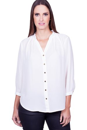 Love Poetry Camisa Formal - Camisa Lisa Off-White