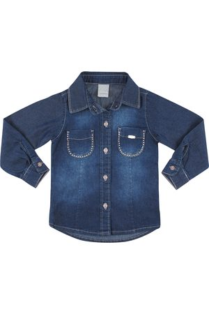 Look Jeans Camisa c/ Strass Jeans