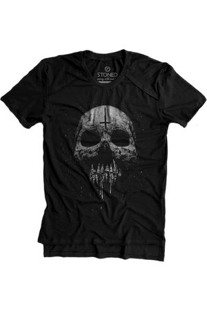Stoned Camiseta Longline Gold Skull Melting