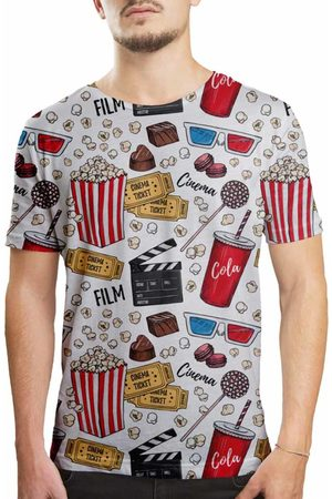 Over Fame Camiseta Estampada Cinema Branca