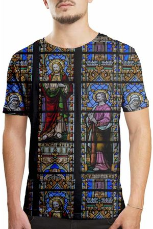 Over Fame Camiseta Estampada Vitral Igreja Multicolorida