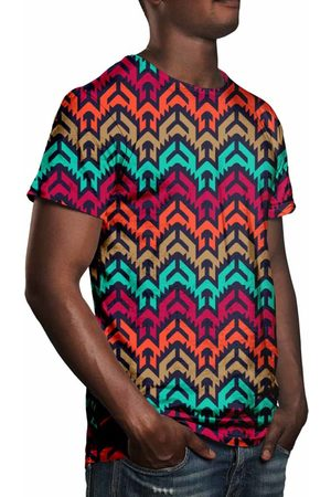 Over Fame Camiseta Estampada Vetor Tribal Multicolorido