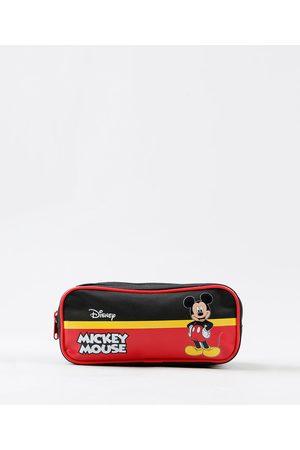 Disney Menino Mochila - Estojo Escolar Infantil Mickey Mouse com Divisórias