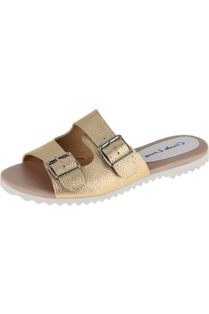 Claudia Lima Chinelo Birken Ouro