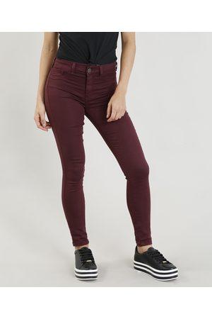 Clockhouse Mulher Calça Skinny - Calça Feminina Super Skinny Energy Jeans Roxa