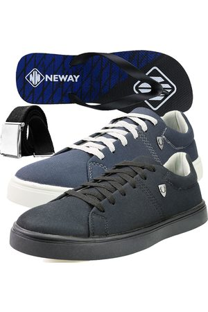 Neway Kit Sapatenis Casual SW Cinza 1 Chinelo 1 Cinto