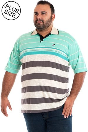 Konciny Camisa Polo Gola Bege Plus Size /Bege