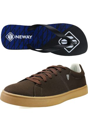 Neway Kit Sapatenis Casual SW Café 1 Chinelo