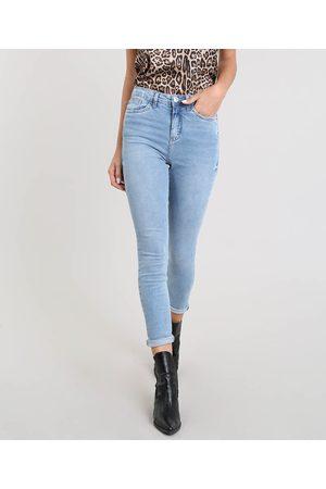Clockhouse Mulher Calça Skinny - Calça Jeans Feminina Skinny Claro