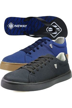 Neway Kit Sapatenis Casual SW Azul 1 Chinelo