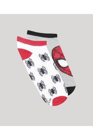Marvel Homem Meias - Kit de 2 Meias Infantis Soquete Homem Aranha Multicor