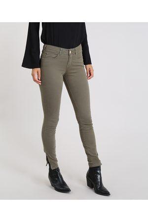 YESSICA Mulher Calças Cargo - Calça de Sarja Feminina Super Skinny Militar