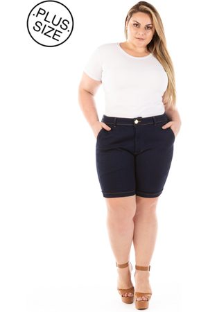 Plus Size - Confidencial Extra Shorts Jeans Lucky Blue Plus Size
