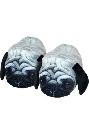 Damannu Shoes Pantufa Unisex Adulto Cachorro Pug 3D