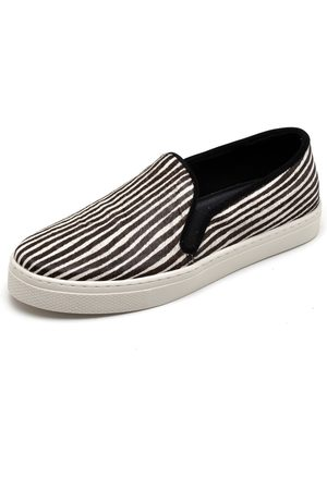 Q&A Tênis Casual Slip On Estampado Preto e