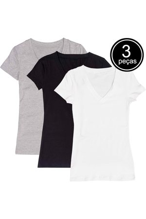 Part.B Kit com 3 Blusas Decote V Colors
