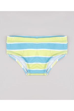BABY CLUB Menino Short de Banho & Sunga - Sunga Infantil Slip Listrada com Proteção UV50+ Verde