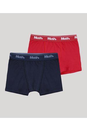 Mash Kit de 2 Cuecas Infantis Boxer Multicor