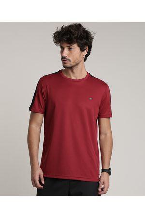 ACE Camiseta Masculina Esportiva com Tela Manga Curta Gola Careca Vermelha