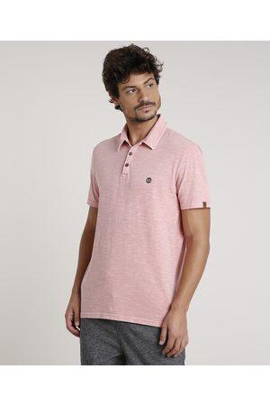 Suncoast Homem Camisa Pólo - Polo Masculina Flamê Manga Curta Coral