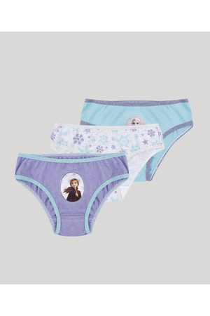 Disney Kit 3 calcinhas infantil Frozen Multicor