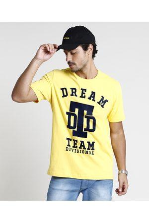 "Clockhouse Homem Manga Curta - Camiseta Masculina Dream"" Manga Curta Gola Careca Amarela"""