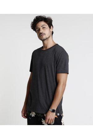 Basics Homem Manga Curta - Camiseta Masculina Básica Manga Curta Gola Careca Mescla Escuro