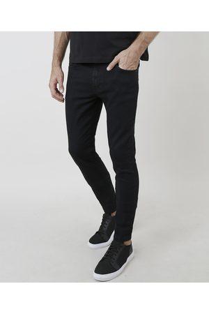 ANGELO LITRICO Homem Calça Skinny - Calça Jeans Masculina Skinny com Bolsos Preta