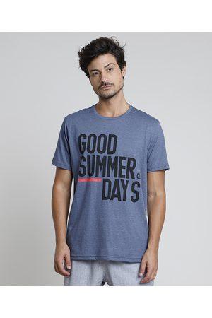 "Suncoast Homem Manga Curta - Camiseta Masculina Good summer day"" Manga Curta Gola Careca """