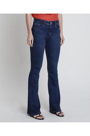 YESSICA Mulher Cintura Alta - Calça Jeans Feminina Flare Cintura Alta Escuro