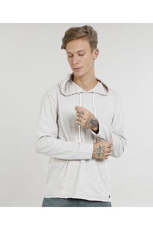 Suncoast Homem Manga Curta - Camiseta Masculina com Bolso e Capuz Manga Longa Kaki Claro