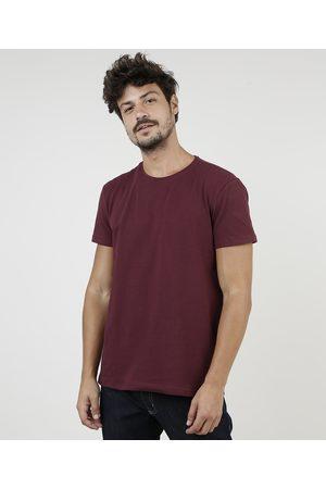 Basics Homem Manga Curta - Camiseta Masculina Básica com Elastano Manga Curta Gola Careca