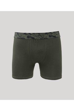 LUPO Cueca Boxer Masculina Camuflada Escuro
