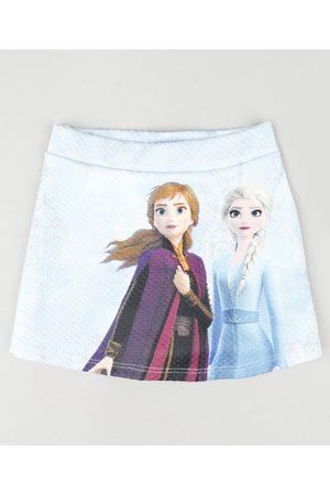 Disney Menina Short - Short Saia Infantil Frozen