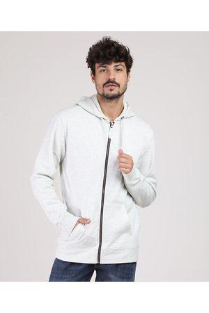 Basics Homem Casacos - Blusão Masculino Básico em Moletom com Capuz e Bolso