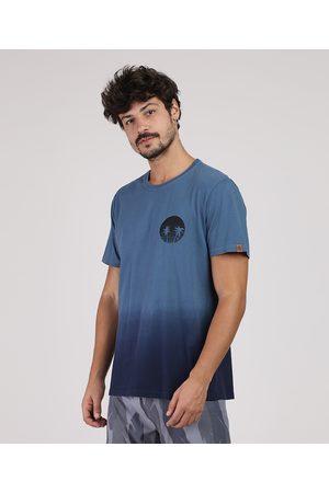 Suncoast Homem Manga Curta - Camiseta Masculina Degradê Manga Curta Gola Careca
