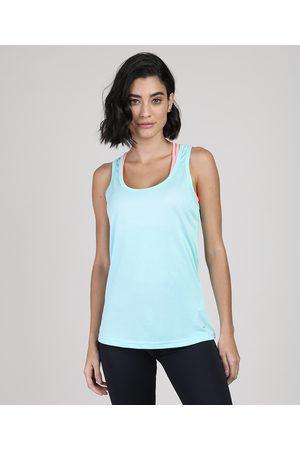 ACE Mulher Camiseta - Regata Feminina Esportiva Decote Nadador Claro