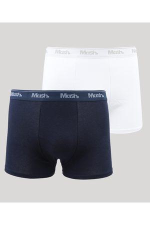 LUPO Homem Cueca Boxer - Kit de 2 Cuecas Masculinas Mash Boxer Cós com Elástico Multicor