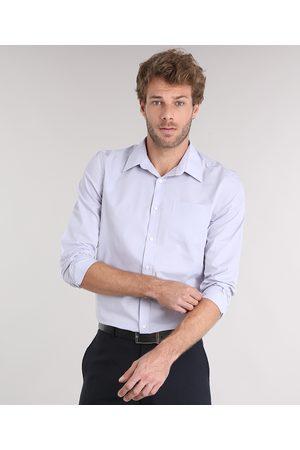 ANGELO LITRICO Camisa Masculina Comfort Manga Longa com Bolso Lilás