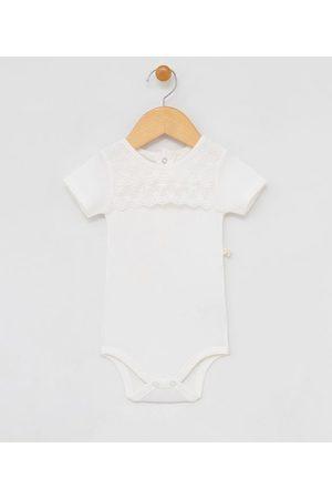 Teddy Boom (0 a 18 meses) Body Infantil com Detalhe em Renda - Tam 0 a 18 meses | | | 3-6M