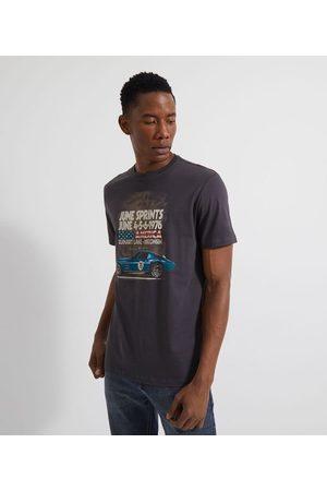 Marfinno Camiseta Manga Curta Estampa Carro de Corrida | | | G