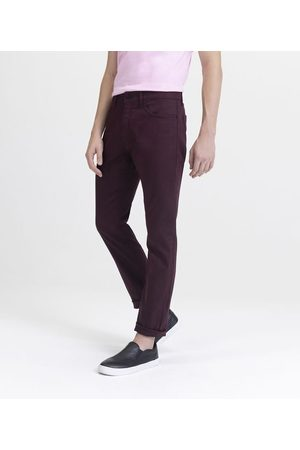 Request Calça Skinny em Jeans | | Bordo | 46
